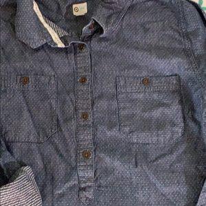 Toms Tops - TOMS Button Up Dark Denim Shirt Size L/G
